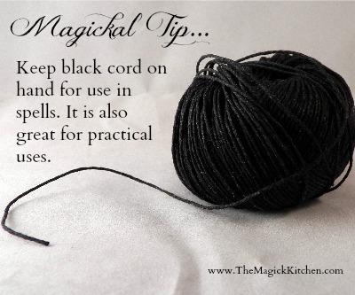 Magickal Tip Black Cord The Magick Kitchen