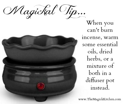 The Magick Kitchen Diffuser Pot Incense Alternative