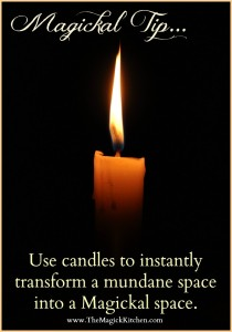 The Magick Kitchen Magickal Tips Candles Create Atmosphere