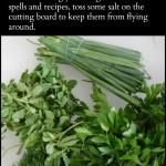 Magickal Tip: Mincing Herbs