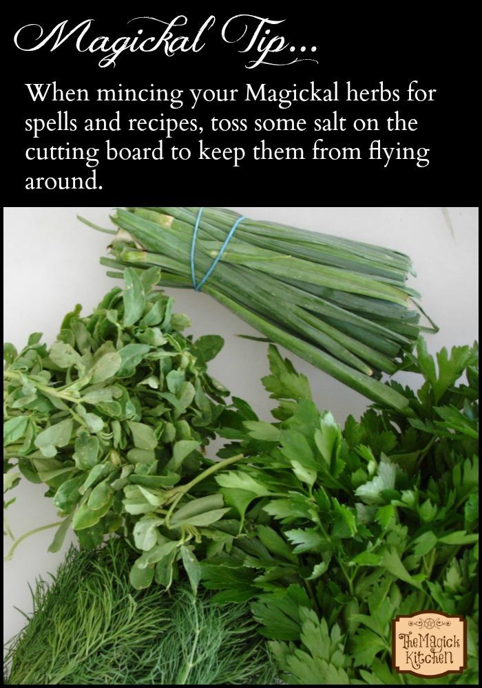 The Magick Kitchen Magickal Tips Mincing Herbs