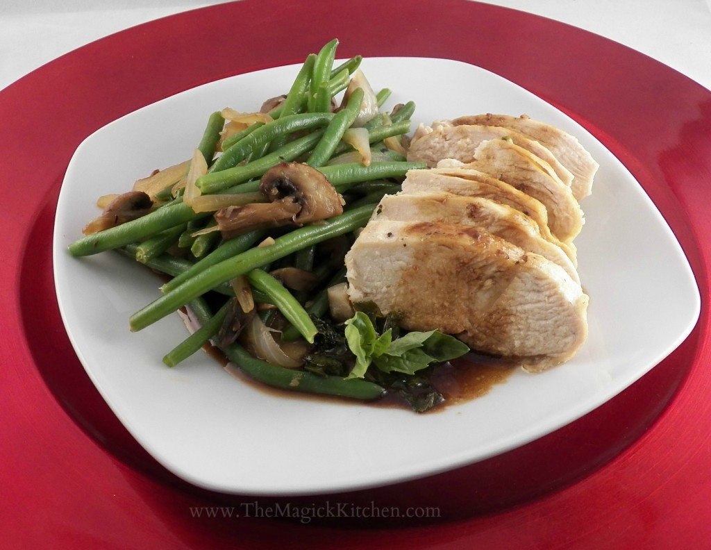 Basil Balsamic Chicken with Sauteed Green Beans The Magick Kitchen
