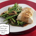 Basil-Balsamic Chicken with Sautéed Green Beans
