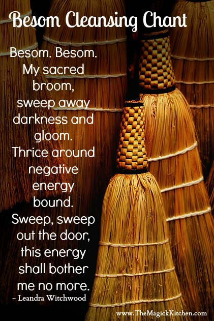 The Magick Kitchen Besom Cleansing Chant