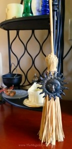 Besom with Sun Symbol The Magick Kitchen