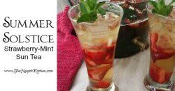 Summer Solstice Strawberry Mint Sun Tea TheMagickKitchen 470x246